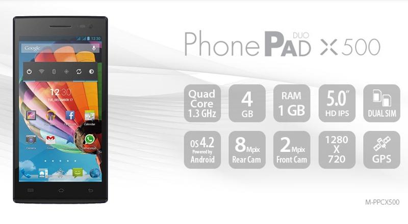 18/12/2014 PhonePad2 X500