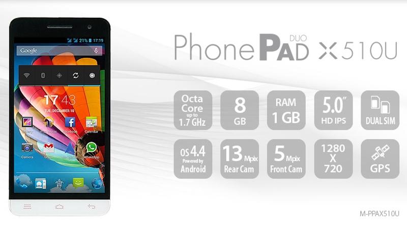 18/12/2014 PonePad2 X510